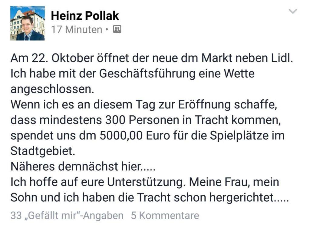 Facebook, Heinz Pollak