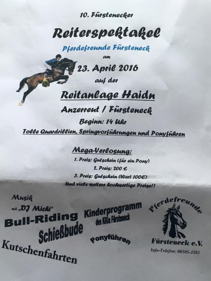 Reiterspektakel!  (Quelle: Pferdefreunde Fürsteneck/Facebook)