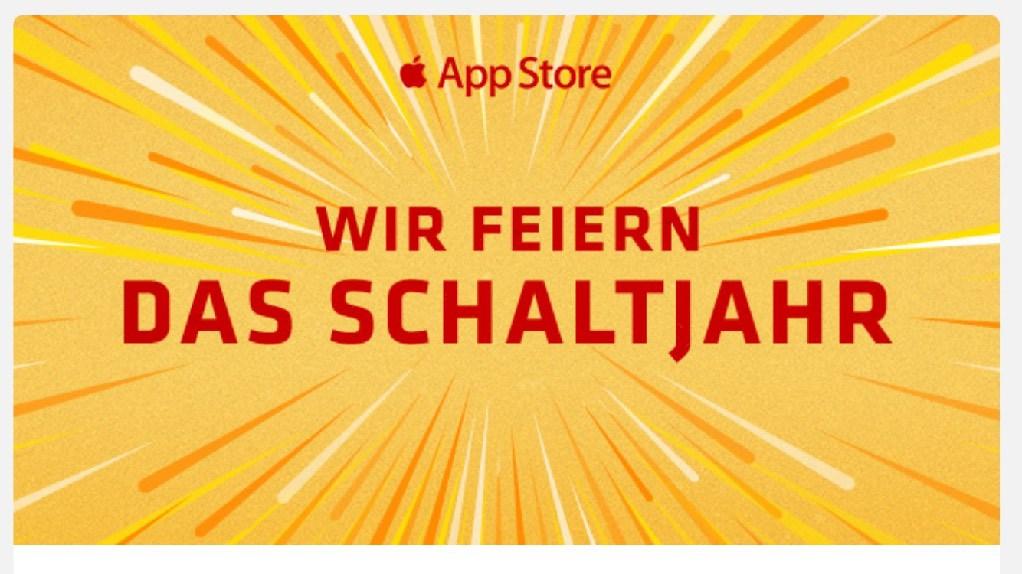 Apple Wir feiern das Schaltjahr