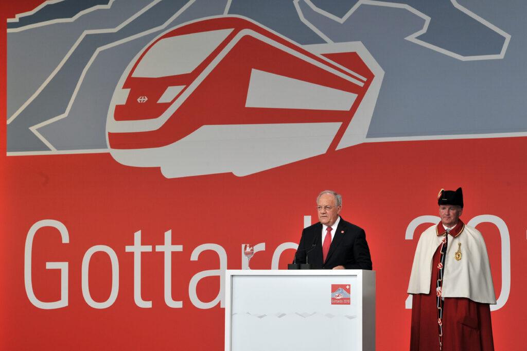CH-Bundespräsident Johann Schneider-Ammann bei der Eröffnungsrede
