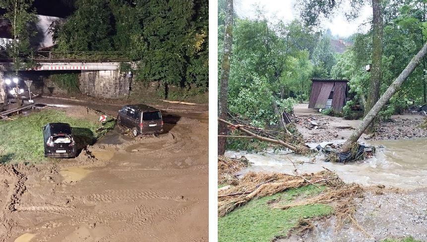 Das Unwetter am vergangenen Samstag richtete verheerende Schäden im Raum Passau an. Die Bilder aus Bayerisch Haibach zeigen einen Teil der Verwüstungen. (Fotos: Diebetsberger)