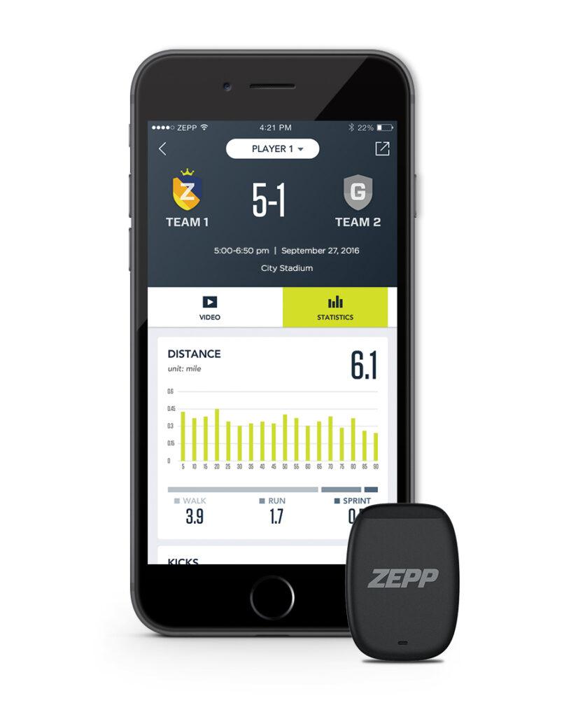 Zepp App für die Auswertungen