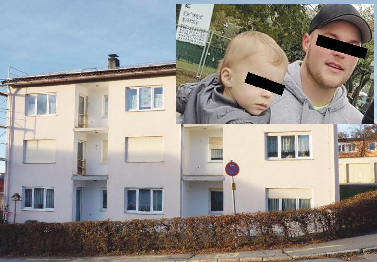 In diesem Haus in Freyung, in der Wohnung mit den herunter gelassenen Rollos, wurde Lisa H. getötet. Vermutlich von ihrem Lebensgefährten Dominik R. (kleines Bild) - Fotos: Polizei, Krückl