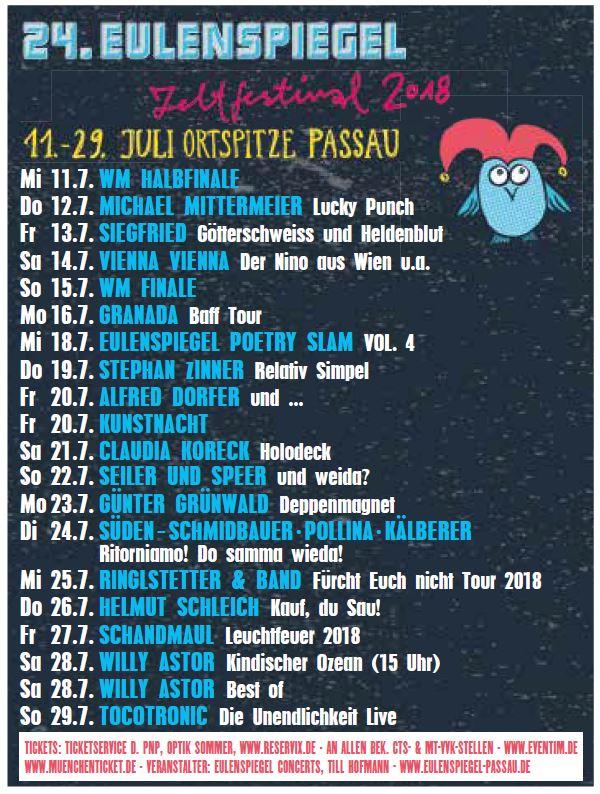 24 eulenspiegel zeltfestival 2018 mitmachen und for Spiegel juli 2018